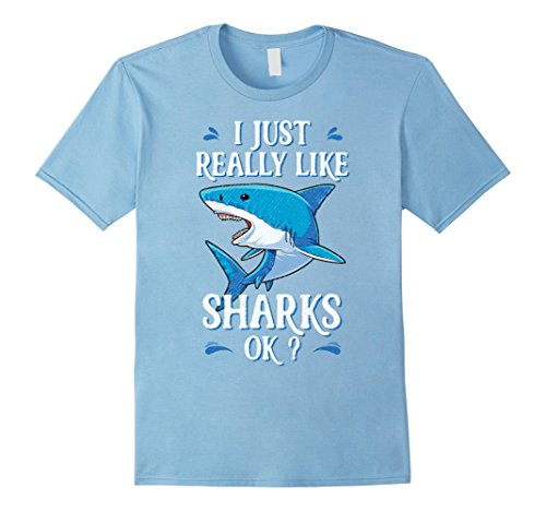 Mens I Just Really Like Sharks OK? Funny Shark T-shirt Gifts Tees 2XL Baby Blue - Infant Scuba Diver Costume