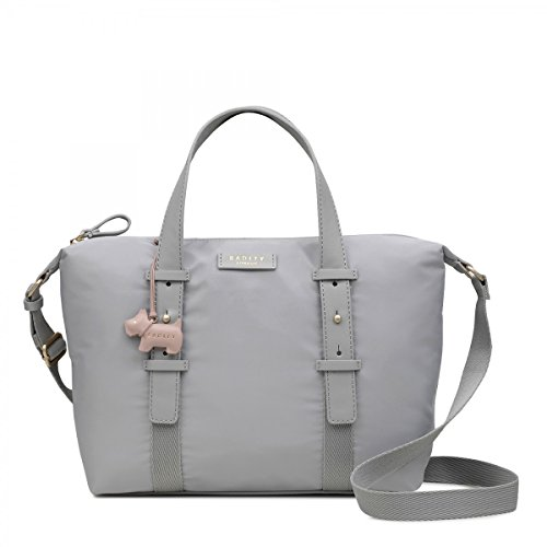 medium top multiway zip ash grab Barbican bag Radley in grey 5wqT1Ag