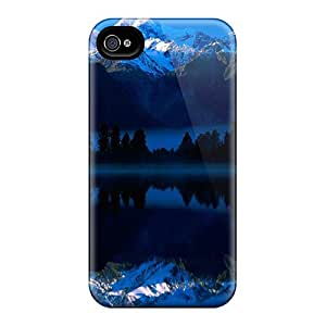 XyDOqPa2031leAKy Tpu Phone Case With Fashionable Look For Iphone 4/4s - Lake Matheson