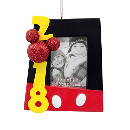 Hallmark Christmas Ornament 2018 Year Dated, Disney Mickey Mouse Picture Frame, Mickey Photo Holder, Mickey Photo Holder