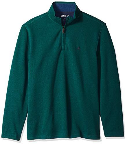 IZOD Men's Spectator 1/4 Zip Sweater Fleece, Botanical Garden, XX-Large ()
