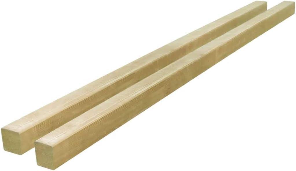 vidaXL 2x Kiefernholz Impr/ägniert Zaunpfahl Holzpfosten Zaunpfosten Pfahl Vierkantpfosten Pfosten Zaunpf/ähle Holzpf/ähle Holzpfahl 7x7x150cm