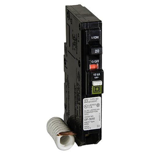Square D QO120CAFI QO 20A Arc Fault Breaker Square D by Schneider Electric QO120CAFIC