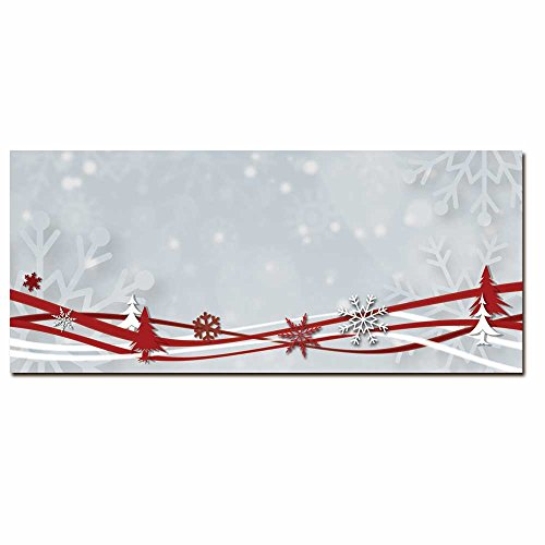 Snowflakes & Ribbons Inkjet & Laser Printer Envelope, 50pk by Image Shop