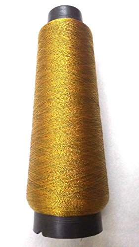 BLACK, RED & GOLD - VERY FINE Art Silk Twisted with Lurex - Neem Jari Zari - For Crochet Sewing Embroidery Knitting (Lurex Thread)