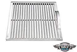 """Bas Metal Stainless Steel Charcoal Grate Bbq Fire Heat Grill Replacement Part For Barbecue Cooking Outdoor Campfire 15"""" X 15"""""""
