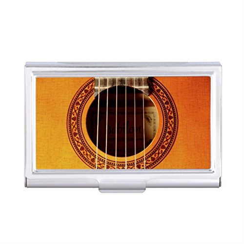 Seral Dik Business Card Holder Case Guitar Monogrammed Business Card Holder