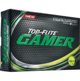 2016 Top Flite Gamer Yellow Golf Balls (12 Pack) by Top Flight
