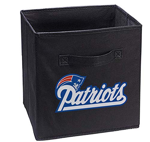 Hele Top Patriots Black Storage Cube Organizer Bins Black Gifts Collapsible Two Cloth -