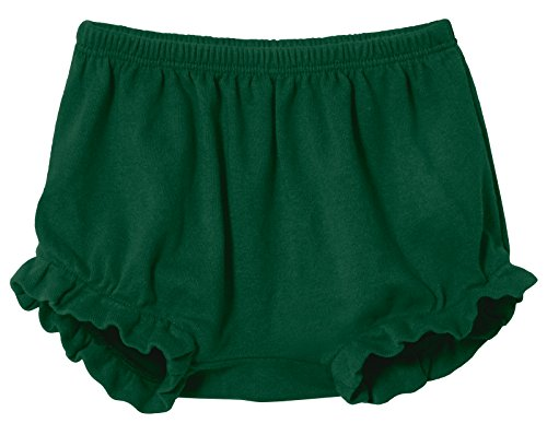 City Threads Baby Girls' and Boys' Ruffled Diaper Covers Bloomers Soft Cotton Fashionable Cute, Forest Green, 2T from City Threads