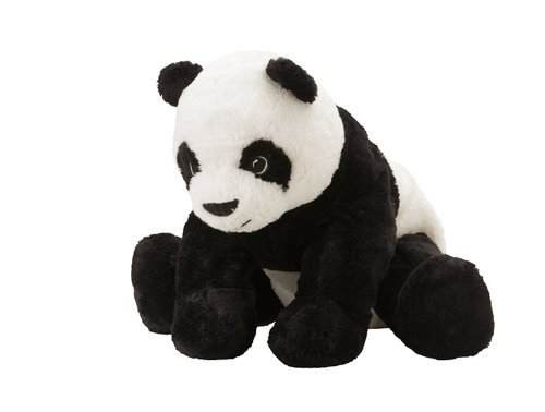 IKEA KRAMIG 902.213.18 Panda, Soft Toy, White, Black, 12.5 Inch, Stuffed Animla Plush Bear ()