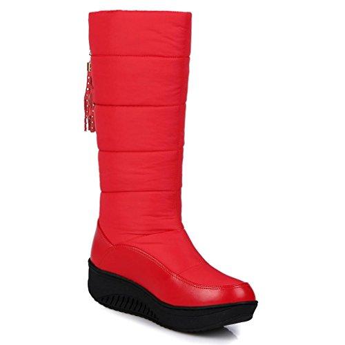 de aux Red Neige Bottes Garder Bottes Dames amp;L Grandes Chaud Mode Hiver Femmes au L 5zpwU