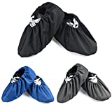 3 Pairs Waterproof Non Slip Washable Reusable Shoe Covers For Household Thickened Boot Covers (3 Color)