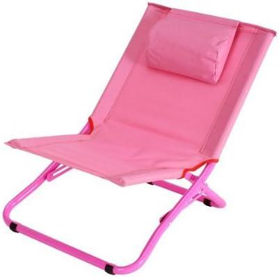 La chaise longue Chaise pliante pour enfant Rose Réf 30 E1