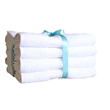 Premium Bamboo Cotton Bath Towels - Natural, Ultra Absorbent and Eco-Friendly 30  X 52  (White)