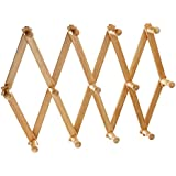 Amazon Com Expanding Peg Rack 10 Hooks Hardwood Multi