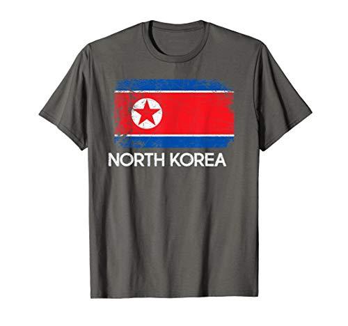 North Korean Flag T-Shirt | Vintage Made In North Korea Gift (Korea Soccer Pride T-shirt)