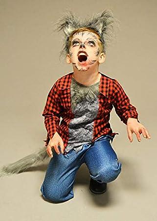 Magic Box Disfraz de Hombre Lobo de Halloween con Orejas para ...