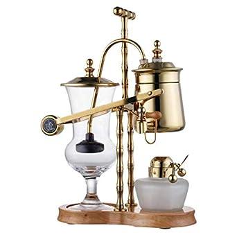 Pote de cristal Alcohol lámpara sifón agua caída cafetera cafetera ...