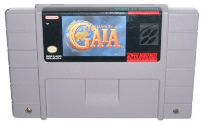 SNES Illusions Gaia Video Game USED