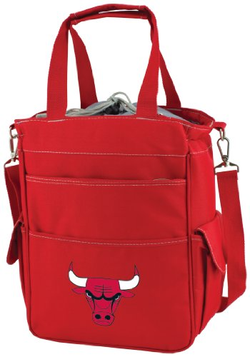 PICNIC TIME NBA Chicago Bulls Insulated Activo Cooler Tote, Red by PICNIC TIME