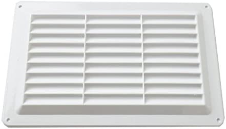 Air Vent Grille Louvred 260 x 165mm White Plastic