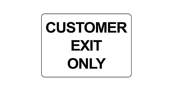 Vvision Customer Exit Only El Arte Pintura de Hierro Cartel ...