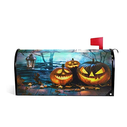 (Tollyee Mailbox Cover Magnetic Halloween Wood Spooky est Mailbox Cover Magnetic Mailbox Cover 9