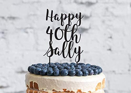 Divertida decoración para tarta de 40 cumpleaños, 40 ...