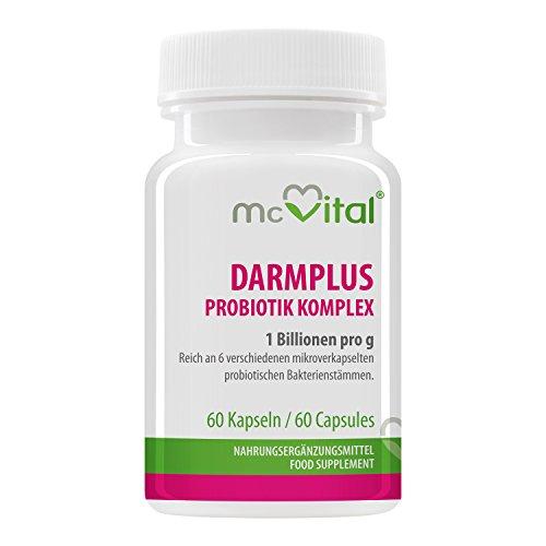 DarmPlus Probiotik Komplex - Gesunde Darmflora - 1 Billion pro g - 60 Kapseln