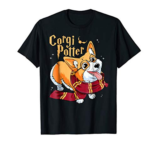Potter Corgi Cute Harry Pawter Corgi Dog T-Shirt For Women -
