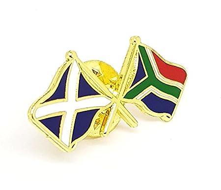 Scotland Souh Africa Friendship Flag Pin Badge Scottish Saltire