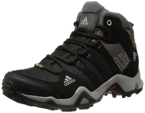 adidas AX 2.0 Mid GTX, Damen Trekking- & Wanderstiefel, Schwarz (Carbon S14/Black 1/Sharp Grey F11), 37 1/3 EU (4.5 Damen UK)