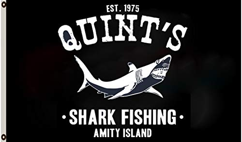 Astany Quint's Shark Fishing Jaws Amity Island Movie Retro Beach New 3X5FT Flag Banner