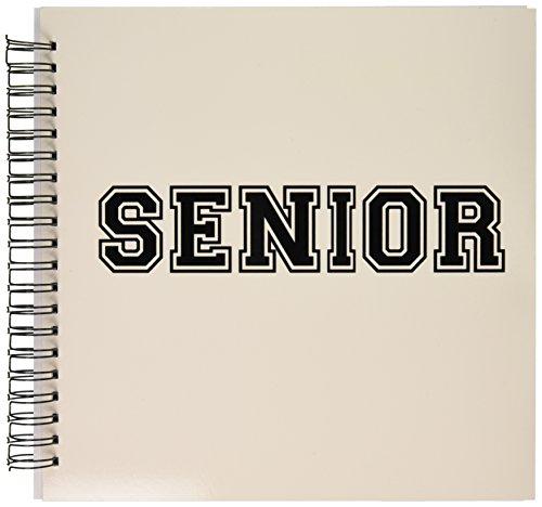 3dRose db_151251_2 Senior High School Or College Or University School Year Souvenir Or Sr Nickname Retro Preppy Memory Book, 12 by 12-Inch ()