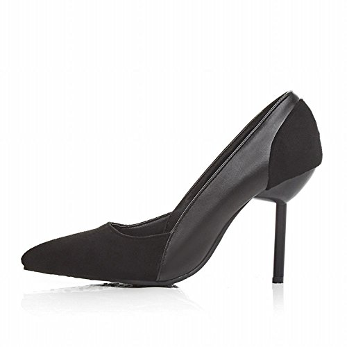 Charm Foot Womens Fashion High Heel Pointed Toe Pumps Shoes Black 0gdyO1