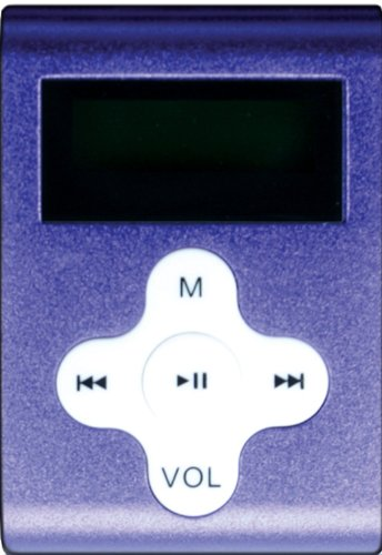 Mach Speed 2 GB Eclipse MP3 Player with Display, Clip-On Style and Shuffle Mode - Purple (Eclipse-CLD2PL)