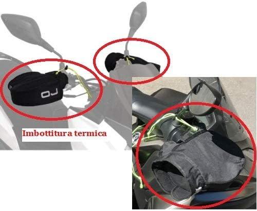 pour Honda TRANSALP XL 700V ABS Manchons Thermique OJ C011 Micro Pro Hand Mains UNIVERSELLES pour Scooters DE Motocyclette Couverts DE Tissu avec Padding