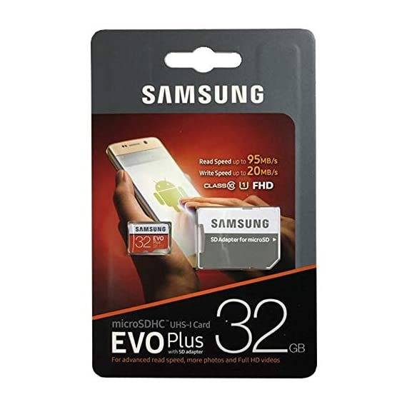 32gb samsung evo plus micro sdhc class 10 uhs-1 32g memory card for samsung galaxy s8, s8+, s8 note, s7, s7 edge, s5… 1 256gb microsdxc memory card evo plus family line read:up to 100mb/s with uhs-1 interface write:up to 90mb/s with uhs-1 interface uhs-i, compatible to hs interface, grade 3, class 10, 4k hd