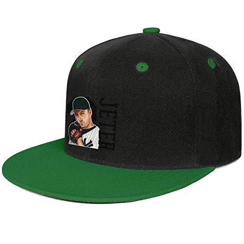 (VTHJYHSVC Green Unisex Men's Casual Hip Hop Plain Fishing Snapback Caps Basketball Hat)