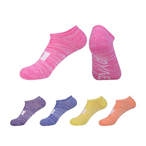 No Show Socks Women Athletic Cushion with Breathable and Cool for Running 4/5 Set