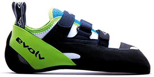 Evolv Supra Climbing Shoes - White/Neon Green 12
