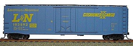 Accurail 5118 HO Louisville & Nashville AAR 50' Plug-Door Riveted Boxcar Kit (50' Aar Boxcar)