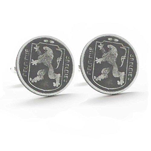 Belgique Coin - Belgium Coin Cufflinks Cuff Links Europe Belgie Belgique Dutch Flemish manchetknopen