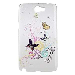 MOFY-Elegante caja colorida mariposa patr—n duro para el Samsung Galaxy Note N7100 2