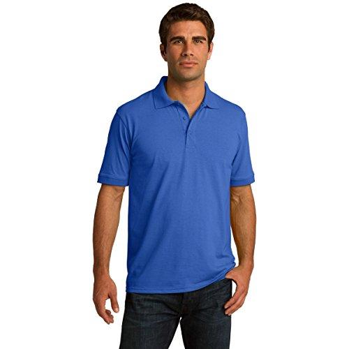 Clothe Co. Mens Big & Tall Short Sleeve Jersey Knit Polo Shirt, 2XLT, Royal