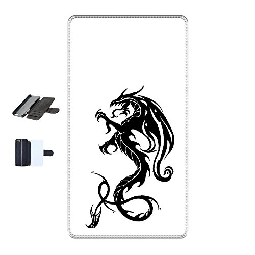 Housse Iphone 5c - Dragon tribal noire