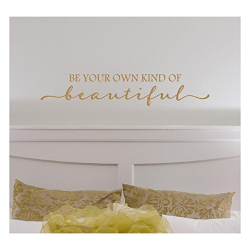 Sticker Wall Lettering Decal (Be Your Own Kind Of Beautiful Vinyl Lettering Wall Decal Sticker (6