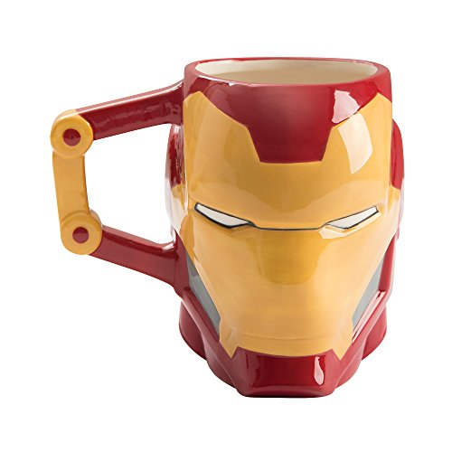 Vandor 26801 Marvel Iron-Man Shaped Ceramic Soup Coffee Mug Cup, 20 Ounce