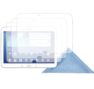 Iwotou Samsung Galaxy Tab 3 10.1 High Definition (HD) Clear Screen Protectors With Cleaning Cloth (3 PACK)